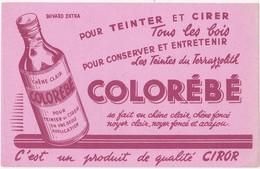 Buvard COLOREBE - Pour Teinter Et Cirer Tous Les Bois - Wash & Clean