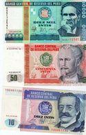 6 Billets Du Pérou Tous Des Années 80 Dont 5 Neuf - Peru