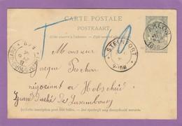 ENTIER POSTAL D'ARLON POUR HOBSCHEID,LUXEMBOURG. - Ganzsachen
