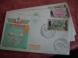 Afrique Lot De 6  Air Afrique Different Pays  Fdc Enveloppe 1 Er Jour - Stamps