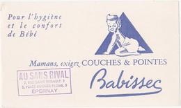 Buvard Babissec - Pour L'hygiène Et Le Confort De Bébé / Couches & Pointes / AU SANS RIVAL - EPERNAY - Bambini