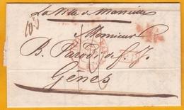 1848 - LAC De 2 Pages En Français De Marseille Vers Gênes (Piémont-Sardaigne) Par Le Ville De Marseille - Maritime Post