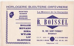 Buvard HORLOGERIE - BIJOUTERIE - ORFEVRERIE / R. BOISSEL - EPERNAY - Buvards, Protège-cahiers Illustrés