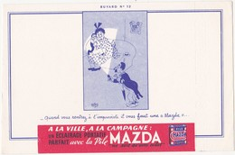 Buvard Pile MAZDA - Buvard N°12 - Dessin De DUBOUT - Piles