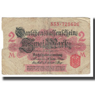 Billet, Allemagne, 2 Mark, 1914, 1914-08-12, KM:53, AB+ - [ 2] 1871-1918 : Impero Tedesco