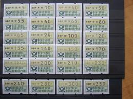 Bund  ATM 1981 - 82 ** ,   24 Unterschiedliche Werte (5 - 350 Pf) , Postfrisch  ,  Einwandfrei - BRD
