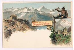 092 Heubner Schwarzensteinhütte Künstlerkarte Selten !! - Autres Illustrateurs