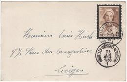 Cachet Ambulant De Bruxelles (Brussel) 1 à Herbesthal. 25/VIII/1936 Sur TP N° COB 412 - Ambulants