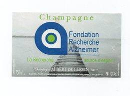 """Etiquette  Du Champagne   """"   Albert De Cervin - Champagne"""