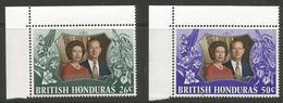 British Honduras - 1972 Silver Wedding MNH **  SG 341-2 - British Honduras (...-1970)