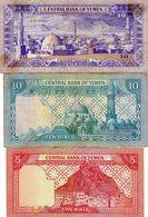 3 Billets Du Yémen 20 Rials - 10 Rials - 5 Rials N D - - Yemen