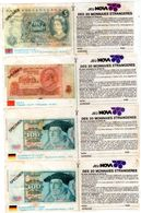 Lot De 10 Jeu NOVA Des 20 Monnaies étrangères - Specimen