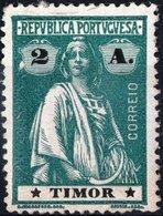 TIMOR, COLONIA PORTOGHESE, PORTUGUESE COLONY, CERES, 1914, 2 A., NUOVO (MLH*), Mi:TL 164xA, Sn:TL 159,  Afi 164 - Timor