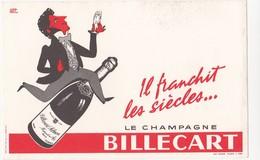 Buvard CHAMPAGNE BILLECART-SALMON D'après Hervé MORVAN - C