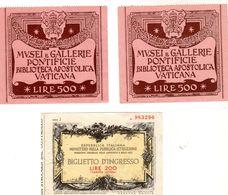 2 Billets Ou Tickets Italien Des Années 40 Et 50 +1 Billet - Ticket Italien 1960 - Italia