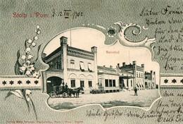 STOLP  ( SLUPSK, Pologne ), écrite En 1902 - Bahnhof - Allemagne