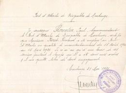"""MAUBEUGE """" PORT D'ATTACHE DU DIRIGEABLE DE MAUBEUGE """" SERVICE DE LA NAVIGATION AERIENNE AVIATION BALLON GUERRE 1921 - Maubeuge"""