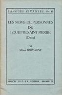 Les Noms De Personnes De Louette-Saint-Pierre En Namurois - Biographie