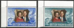Virgin Islands - 1972 Silver Wedding MNH **  SG 275-6 - British Virgin Islands