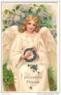Très Belle Illustration - Ange En Gros Plan - Dessin Et Couleurs D'une Grande Finesse - 2 Scans - Anges