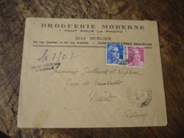 Recommande De Fortune Saint Maixent L Ecole Marianne Gandon 6 Et 3 F Lettre Recommandee - Marcophilie (Lettres)