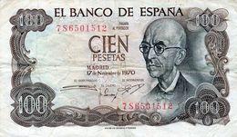 6 Billets De L'Espagne De 100 Pesetas De 1970 En B - - [ 3] 1936-1975 : Regime Di Franco