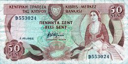 Billet De 50 Cents Chypre 1983 En B - Chypre
