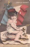 MILITARIA Patriotique -...POUR LES BOCHES !  (gamin Enfant Képi) ETAT = Voir Description  (drapeau)*PRIX FIXE - Patriotiques