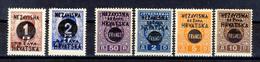1941 - Croazia Indipendente - Francobolli Di Jugoslavia Con Nuova Soprastampa - Nuovi MNH** E MLH* - Croazia