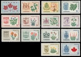 Canada (Scott No. 417-29A - Fleurs Provinciales / Provincial Flowers) [**] Serie / Set Of 14 - Unused Stamps