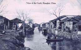 7SHANGHAI CHINA~VIEW OF CREEK POSTCARD 40473 - China