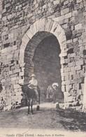 CASOLE D'ELSA-SIENA-ANTICA PORTA DI RIVELLINA-BIMBO E ASINELLO -CARTOLINA VIAGGIATA IL 10-8-1911 - Siena