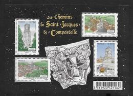 France 2012 Bloc Feuillet N° F4641  Neuf Chemins De Saint Jacques De Compostelle à La Faciale - Mint/Hinged