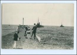 Y12169/ Rügenwaldermünde Pommern Marine Torpedoboote Fotograf Foto AK 1932 - Pommern