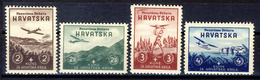 1942 - Croazia Indipendente - Pro-Aviazione - Nuovi MNH** - Croazia