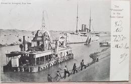 Egypt Preussen In The Suez Canal Port Said 1907 - Egitto