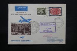 """LUXEMBOURG - Enveloppe De Luxembourg Pour Frankfurt Par Voie Aérienne """" Stuttgart / Frankfurt En 1955 - L 28455 - Luxemburg"""