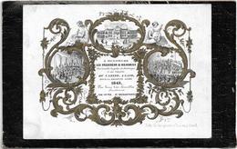 Gent  *  (Carte Porcelaine)  Nieuwjaar 1843 -  President Et Membres Sociétés Royales De Botanique Et Concerts Du Casino - Porseleinkaarten