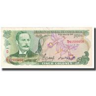 Billet, Costa Rica, 5 Colones, 1990, 1990-01-01, KM:241, TTB - Costa Rica