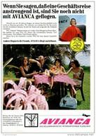 Original-Werbung/ Anzeige 1969 - AVIANCA FLUGGESELLSCHAFT / BOGOTA - Ca. 180 X 240 Mm - Publicidad