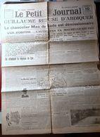 GUERRE JOURNAL 10 NOVEMBRE 1918 MAUBEUGE KAISER GUILLAUME II REUSE D'ABDIQUER VEILLE DE L'ARMISTICE VALENCIENNES TOURNAI - 1914-18