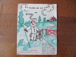 AU CLAIR DE LA LUNE BAILLE HACHE 1934 BUVARD OFFERT PAR LA CHAMBRE SYNDICALE NATIONALE DU CYCLE ET DU MOTOCYCLE - Moto & Bicicletta