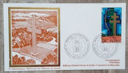 FDC 1977 - YT N°1941 - MEMORIAL CHARLES DE GAULLE - COLOMBEY LES DEUX EGLISES - FDC