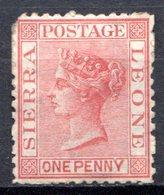 SIERRA LEONE - (Colonie Britannique) - 1872-73 - N° 5 - 1 P. Rose Pâle - (Victoria) - Sierra Leone (...-1960)