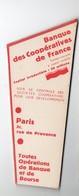 Marque-page  BANQUE DES COOPERATIVES DE FRANCE  (PPP18168) - Bookmarks