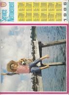 CALENDRIER  SERVICE DU NETTOIEMENT  DES EBOUEURS    ANNEE 1986  CHIEN  ****   A  SAISIR  *** - Big : 1981-90