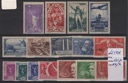 FR 1032 - LOT DE 16  Timbres De France Neufs**/* Année 1936 Côte 131,00 € - Unused Stamps
