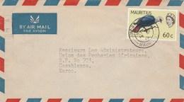 Maurice Lettre Entête Chue Wing  Pour Maroc - Oiseaux - Maurice (1968-...)