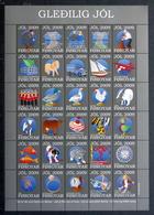 Faroe Islands 2009. Official Christmas Seals In Full Sheet . MNH(**)   ( Lot  2980 ) - Isole Faroer