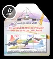 Djibouti 2019 Mih. 2681/84 Aviation. Supersonic Airliners Concorde MNH ** - Djibouti (1977-...)